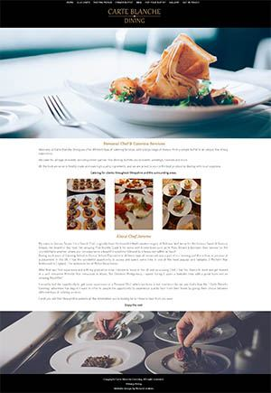 Carte Blanche Dining Website