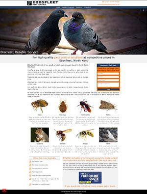 Ebbs Fleet Pest Control Website
