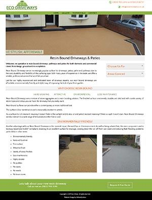Eco Driveways Website