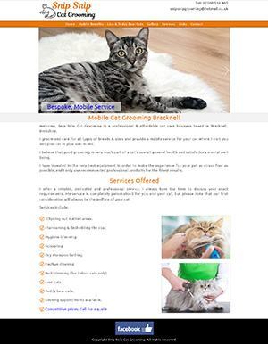 Snip Snip Cat Grooming Website